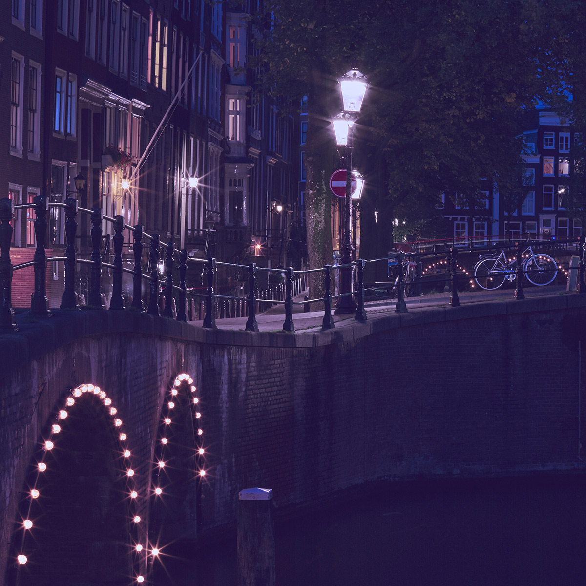 SPX Agency Work: OurDomain, Amsterdam canal by night
