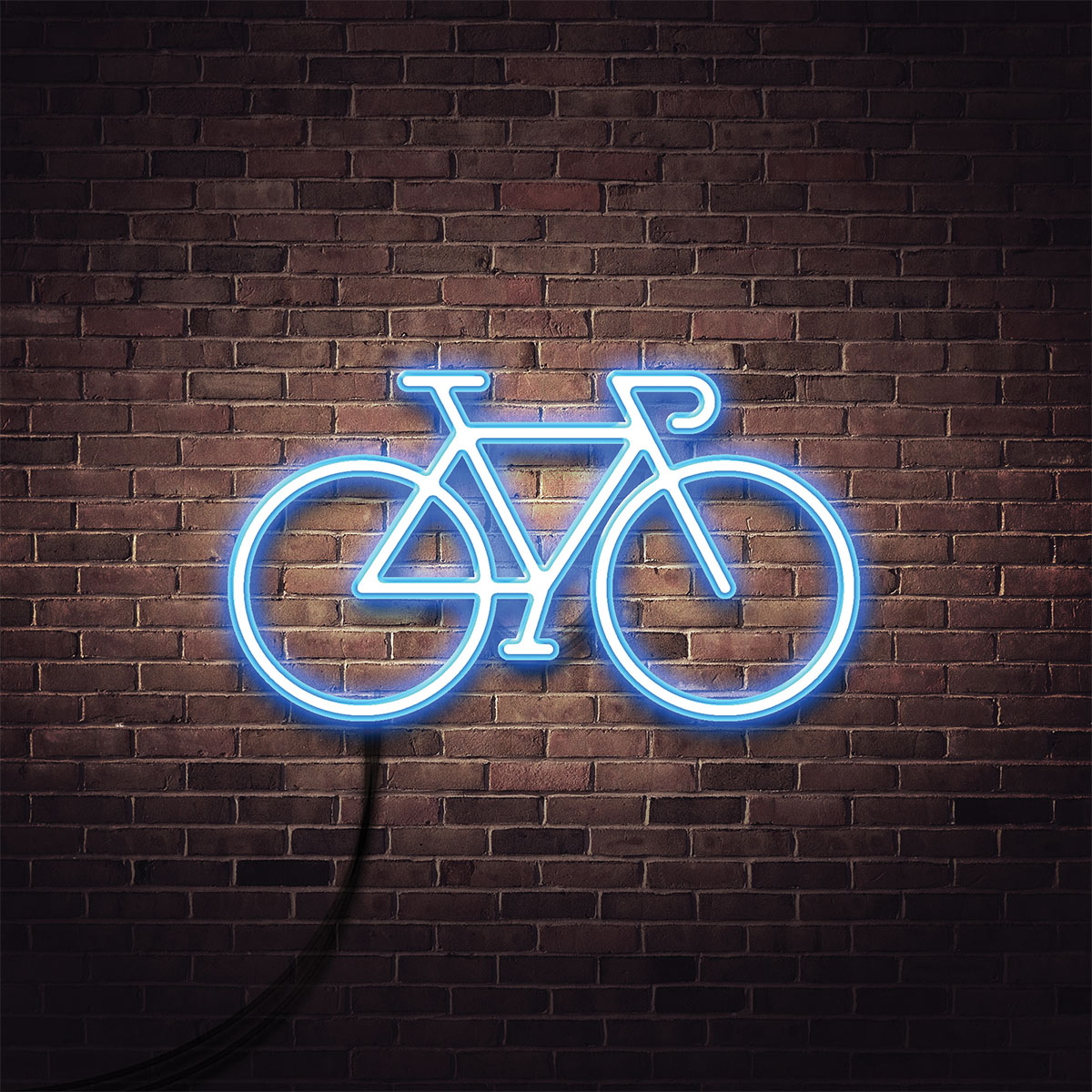 SPX Agency Work: OurDomain bike neon icon