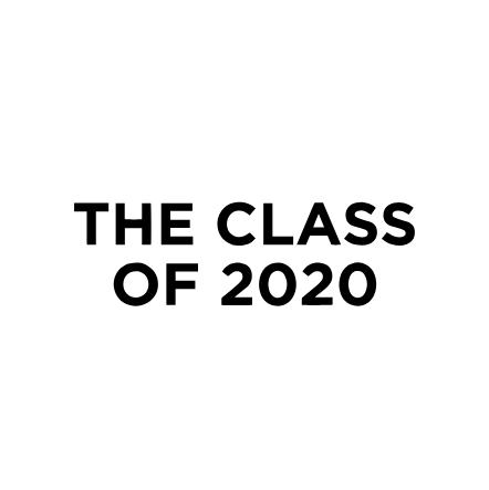 the class of 2020 logo black and white