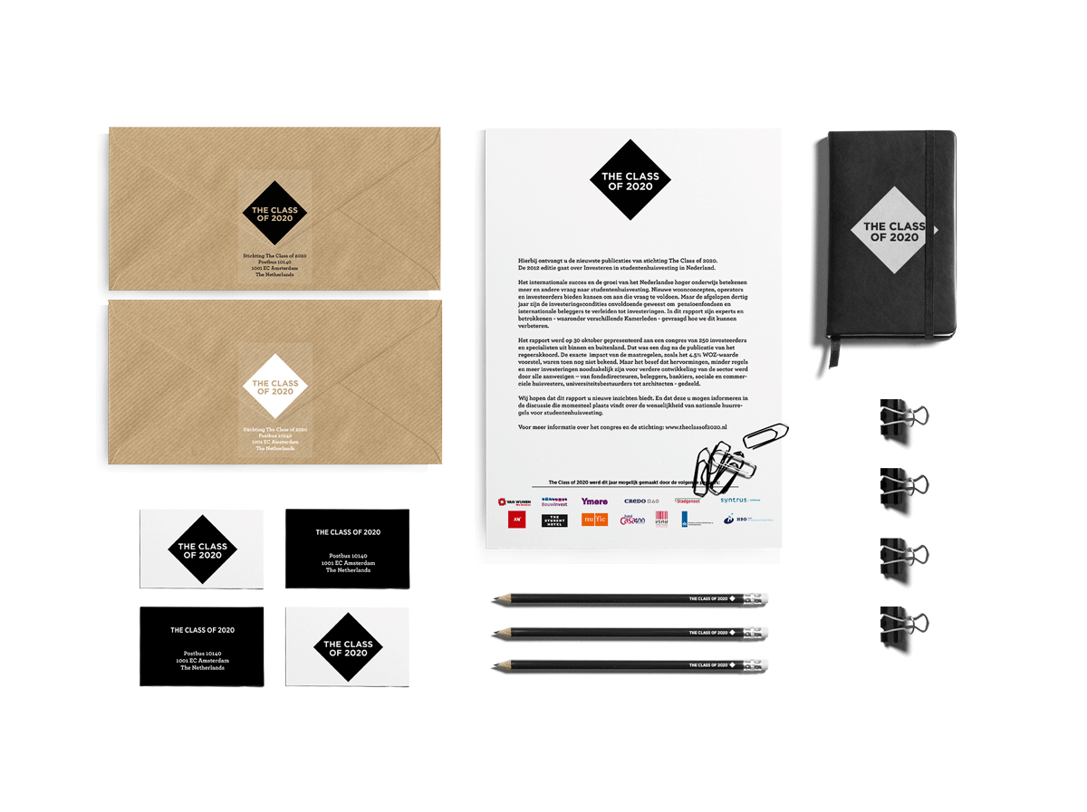the class of 2020 stationery mockup
