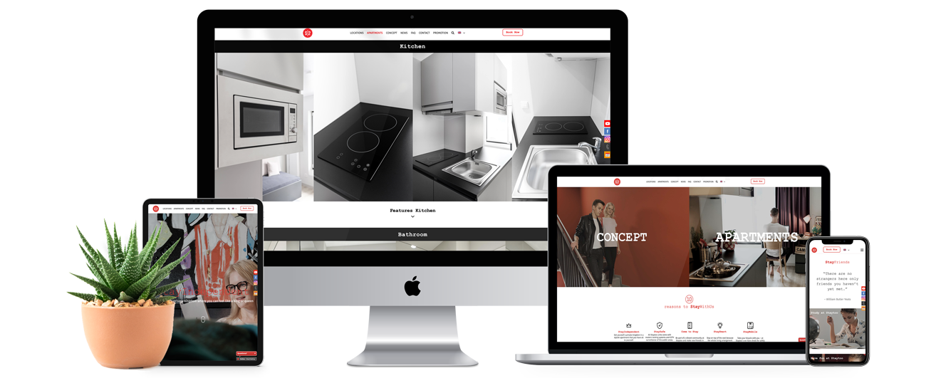 staytoo website showcase in mobile, desktop, laptop and tablet