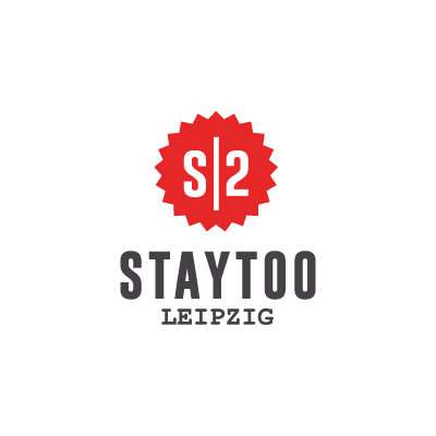 staytoo apartments leipzig logo in red