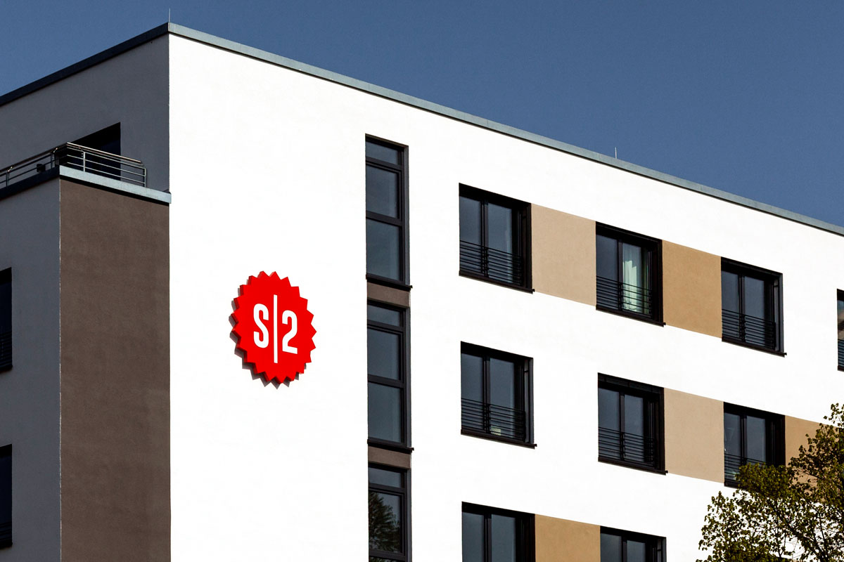 SPX Agency Work: Staytoo logo on the building