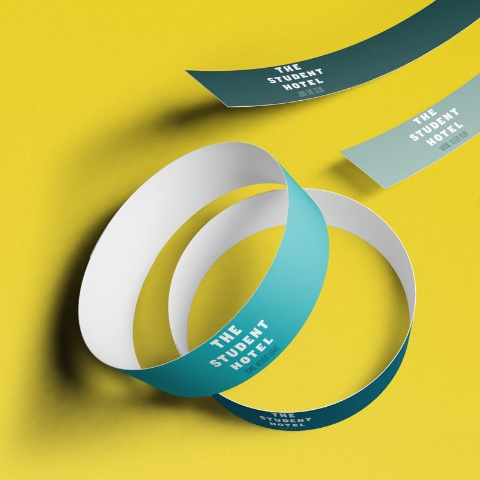 SPX Agency: The Student Hotel's paper wristbands