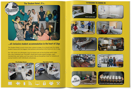 SPX Agency: The Student Hotel leaflet