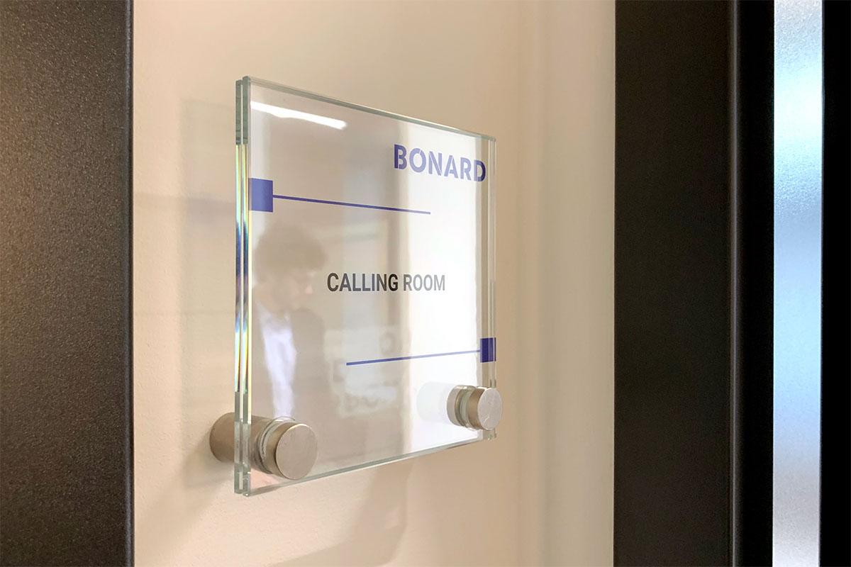 bonard signage calling room