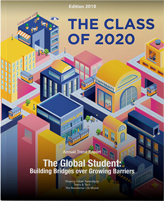 the class of 2020 magazine 2018 edition cover design by spx