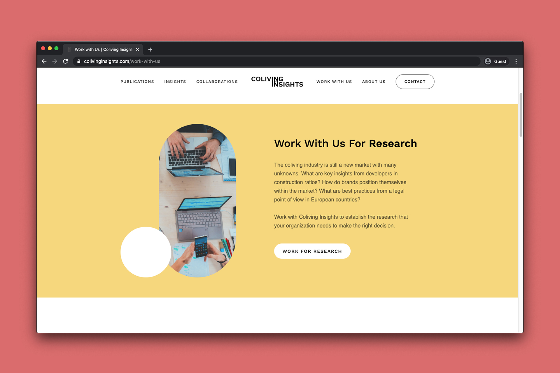 Coliving Insights Website design: work with us