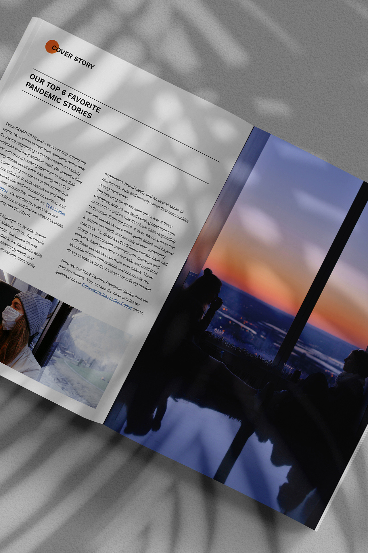 Coliving Insights Inner pages mockup by SPX Agency