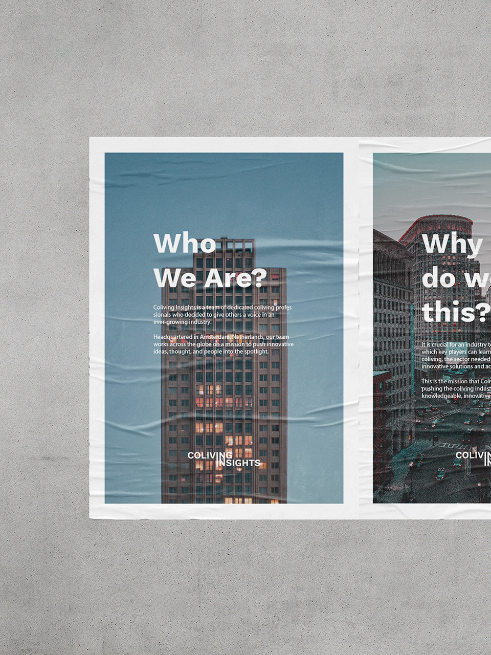 Coliving Insights Typography application mockup by SPX Agency