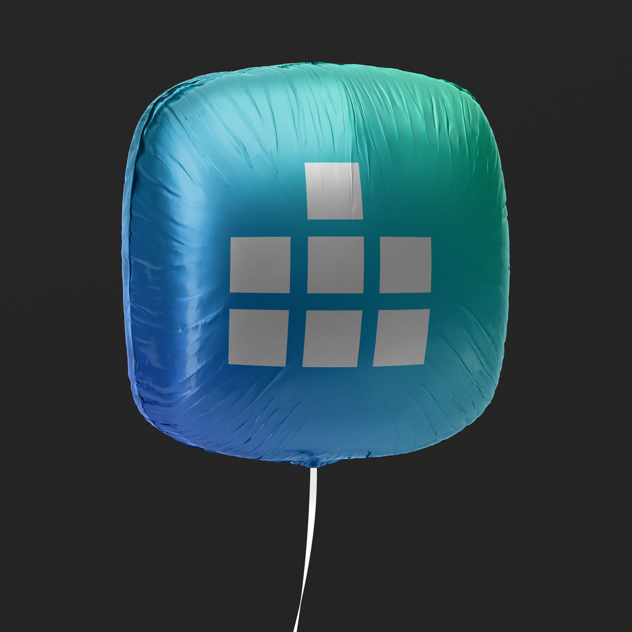 Digital Estate coloured balloon with white logo mockup by SPX