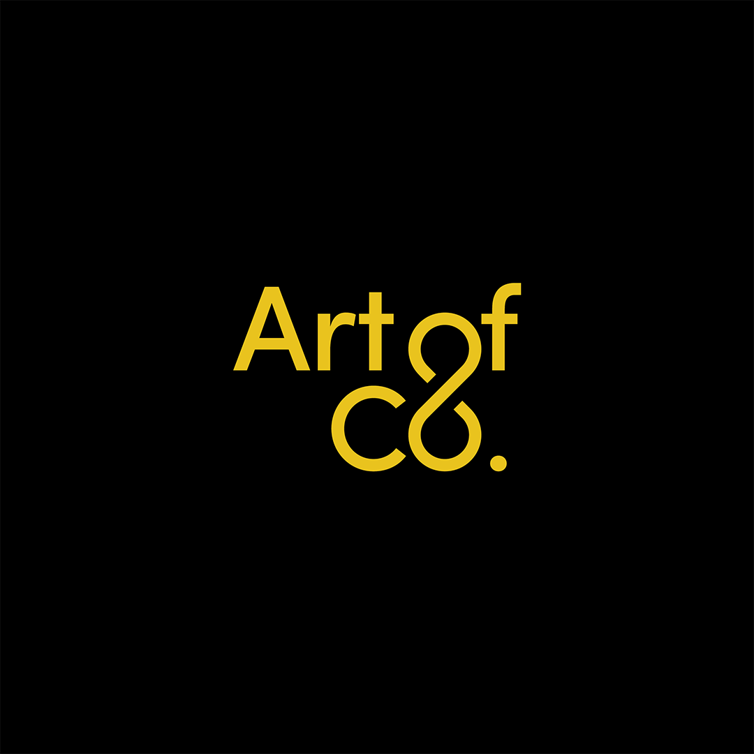 Art of Co yellow logotype by SPX on a black background