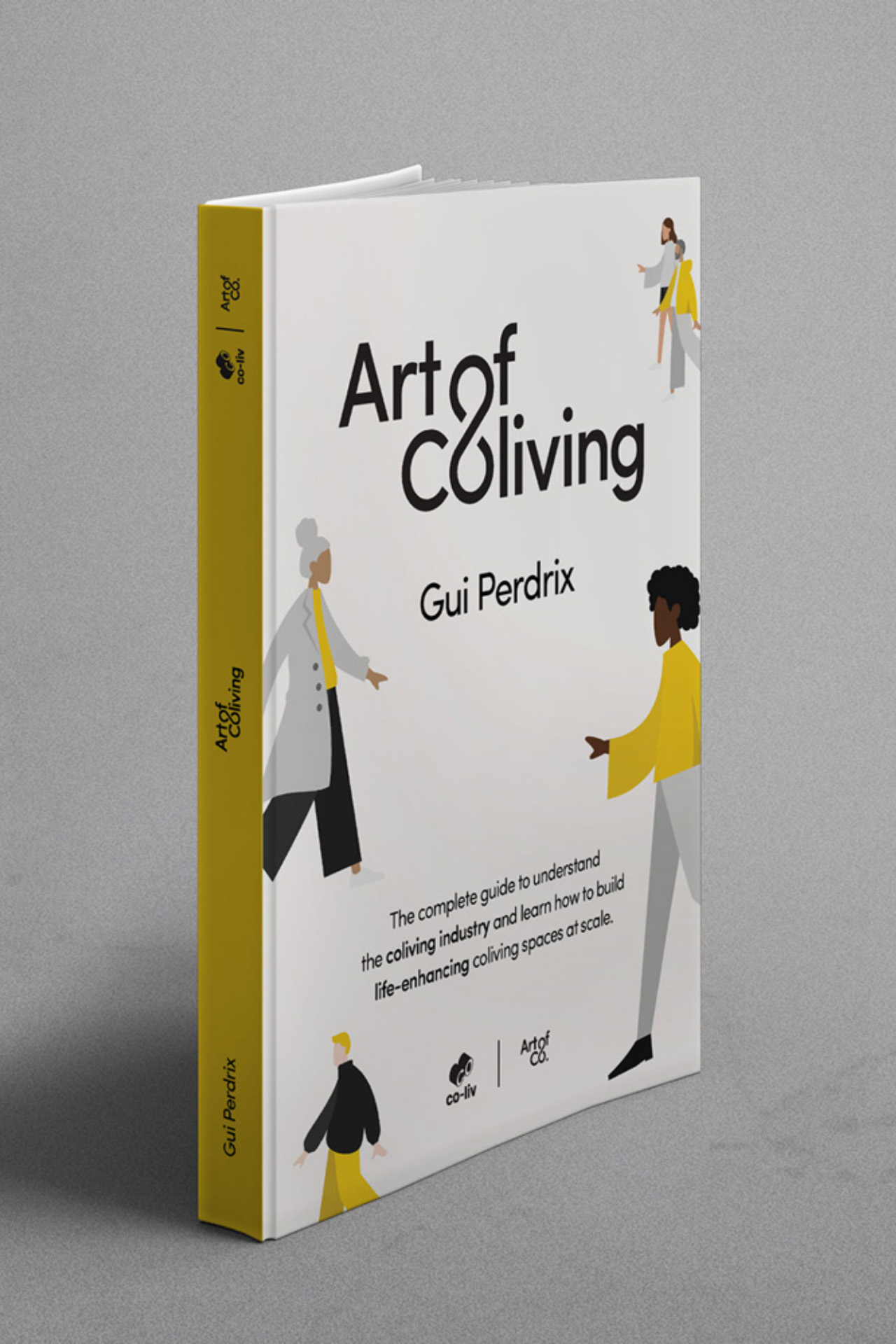 Art of Coliving by Gui Perdrix book front cover design by SPX Agency