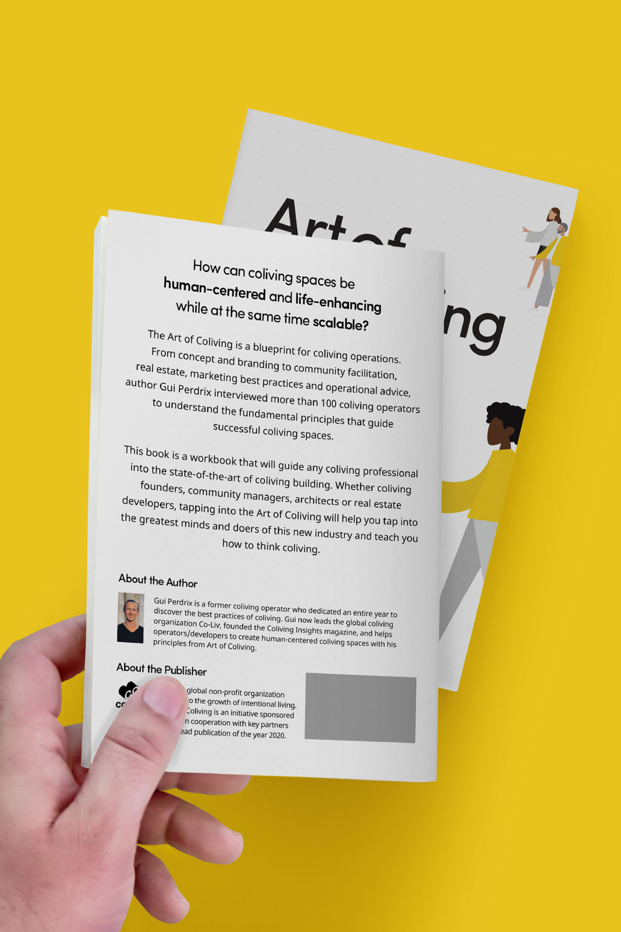 Art of Coliving by Gui Perdrix book back cover design by SPX Agency