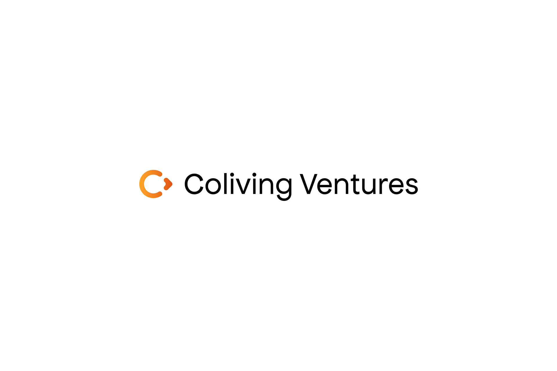 Coliving Ventures black logotype with white background by SPX Studio