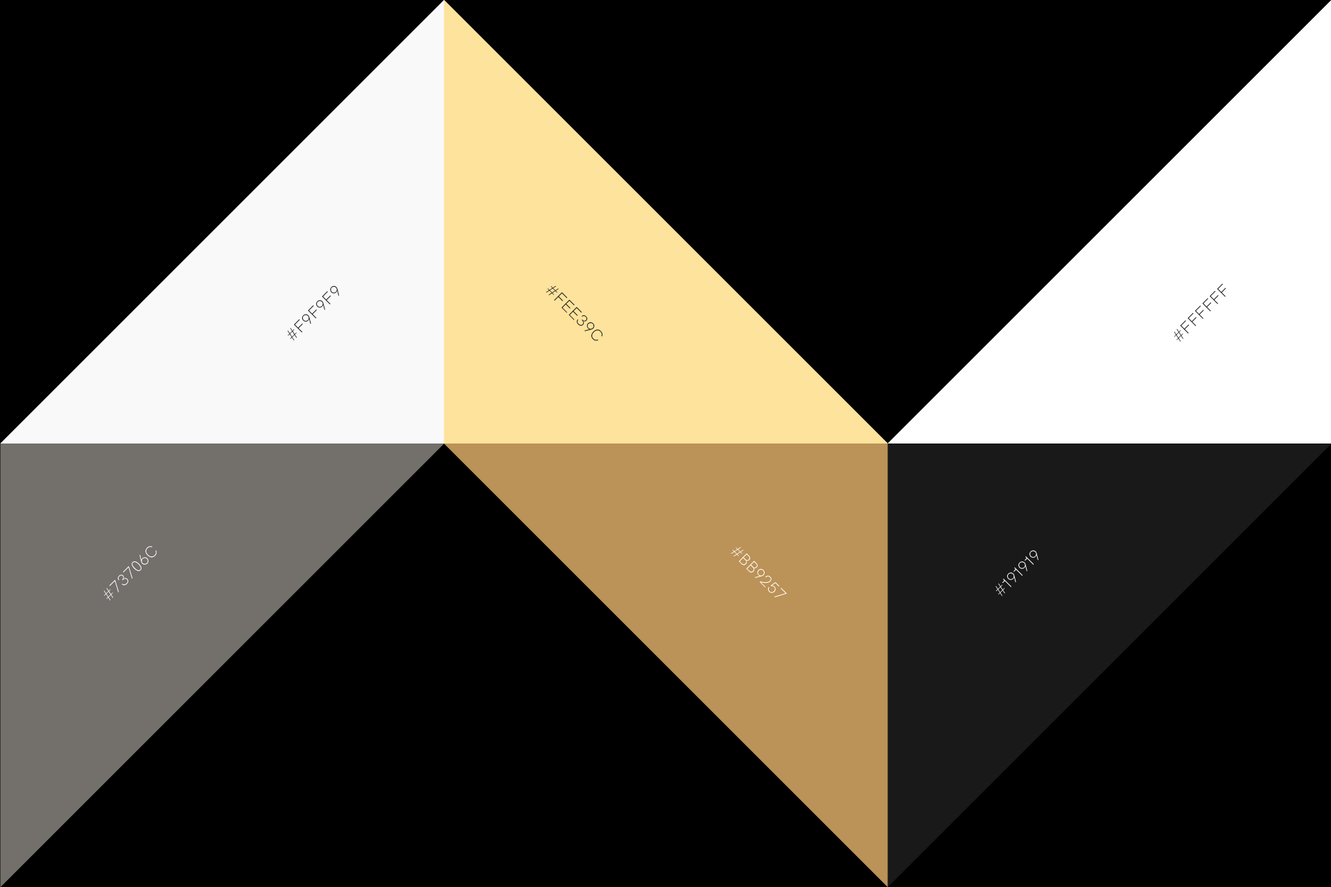 Coliving Awards brand identity: colour palette by SPX