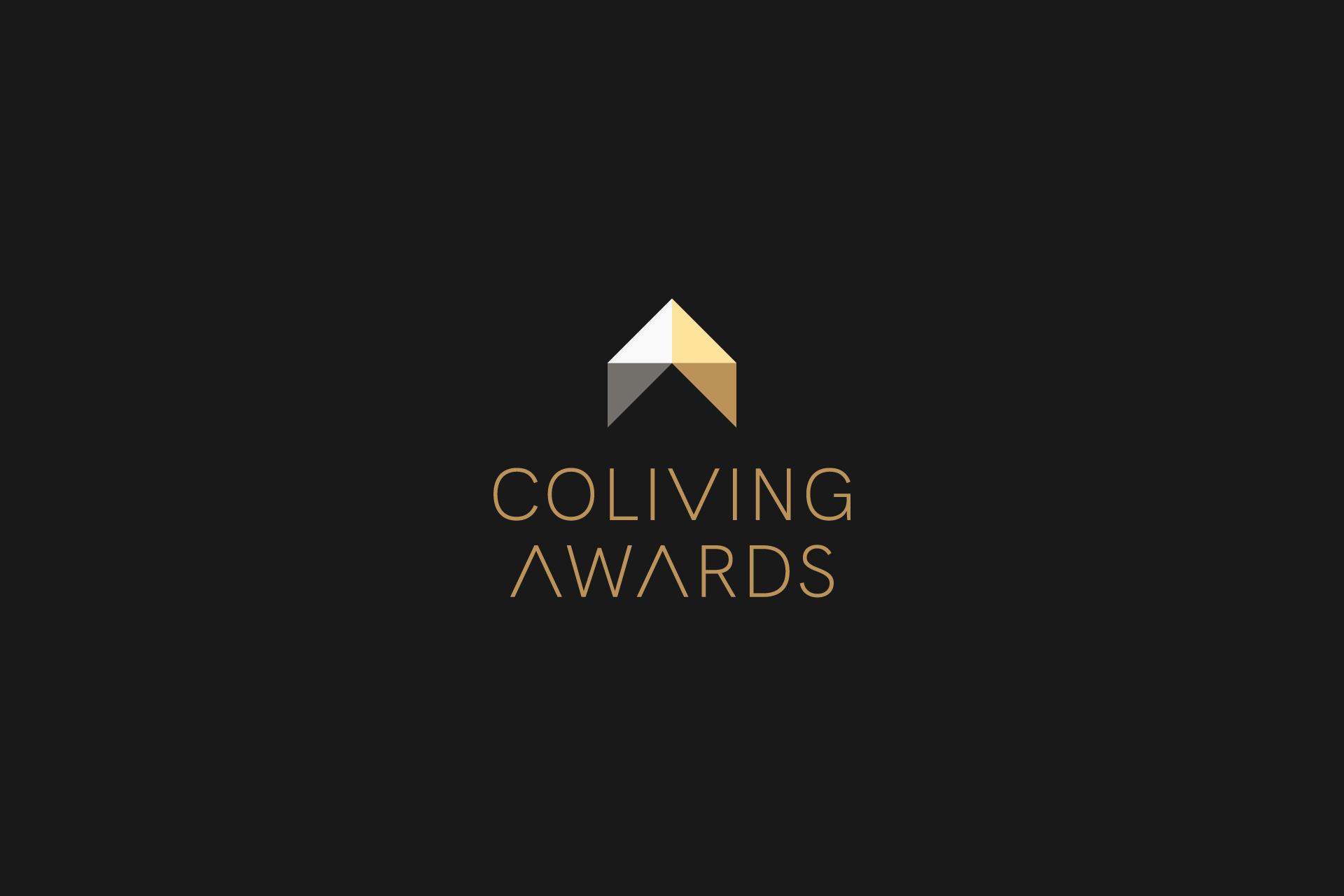 Coliving Awards logotype with dark background