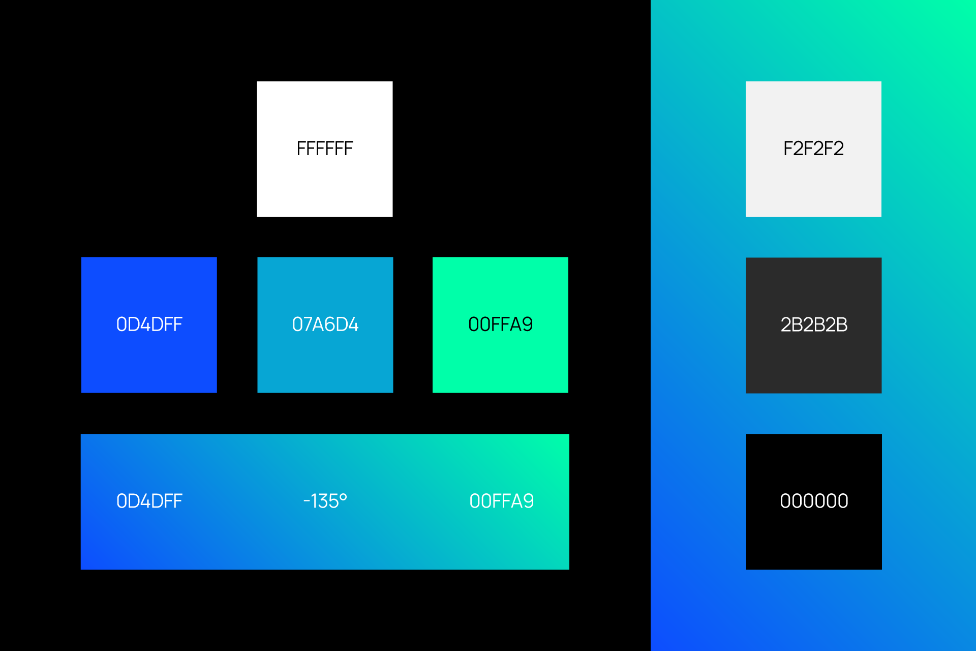 Digital Estate branding by SPX Agency: colour palette