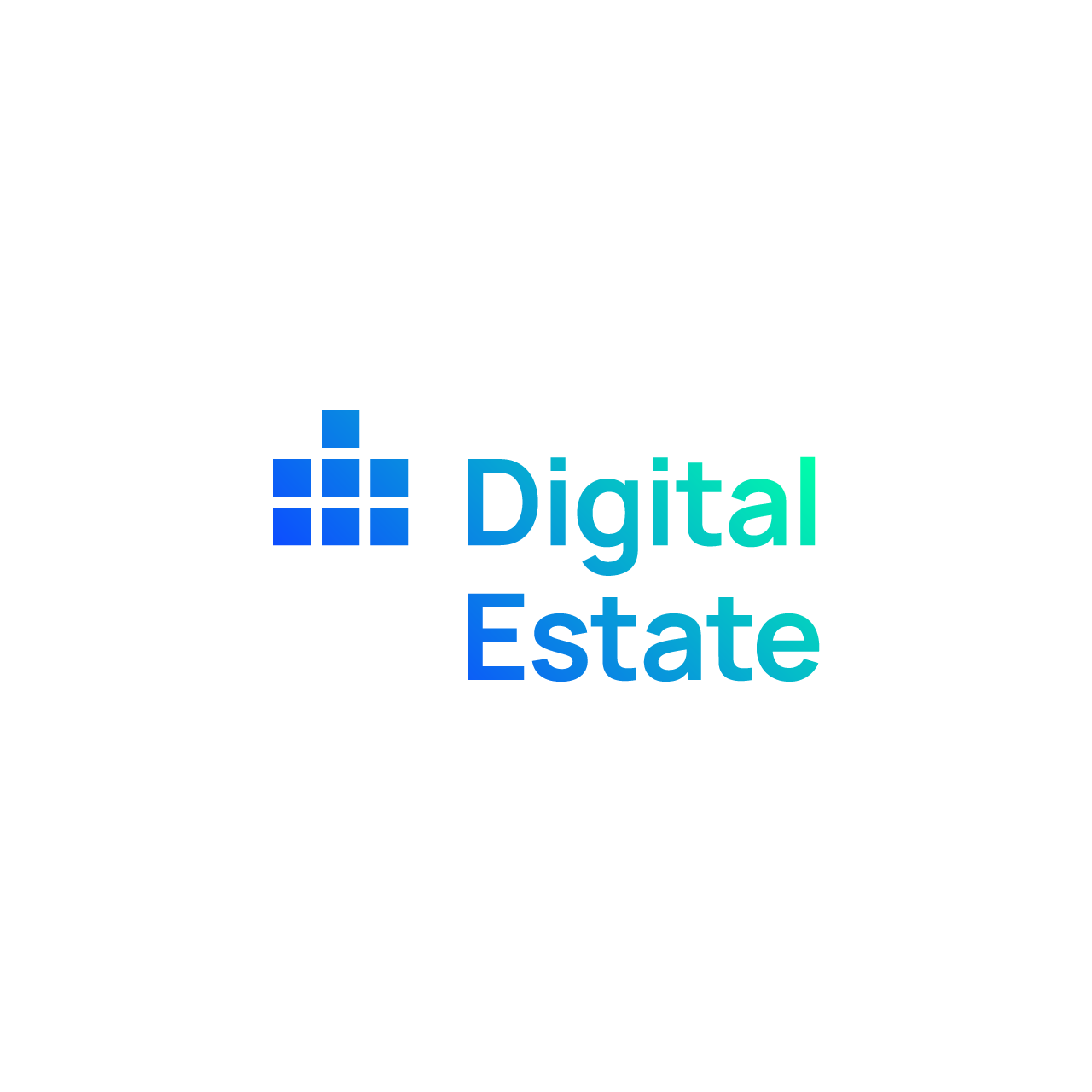 Digital Estate Blue/Green Logotype with white background - squared banner