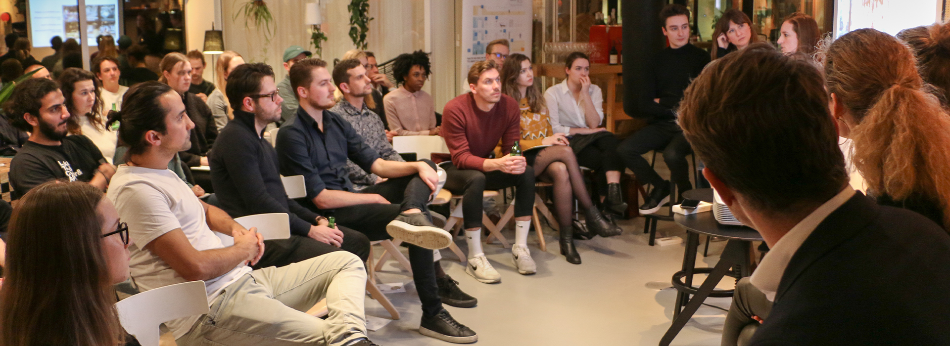 Coliving Meetup Audience at Zoku Amsterdam