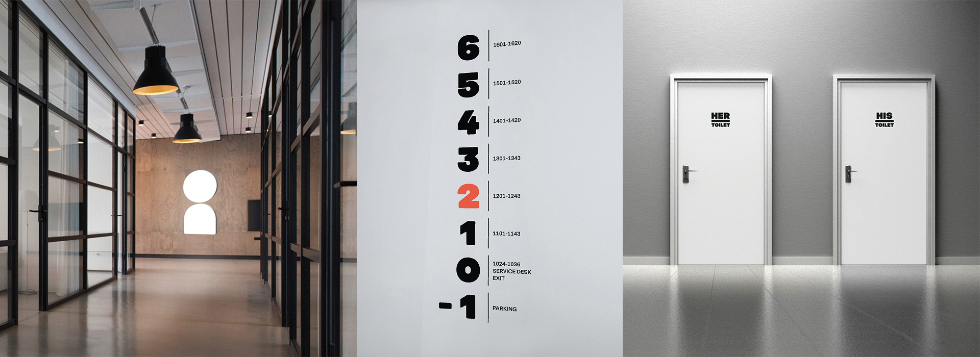 OurDomain Spatial Branding Signage & Wayfinding