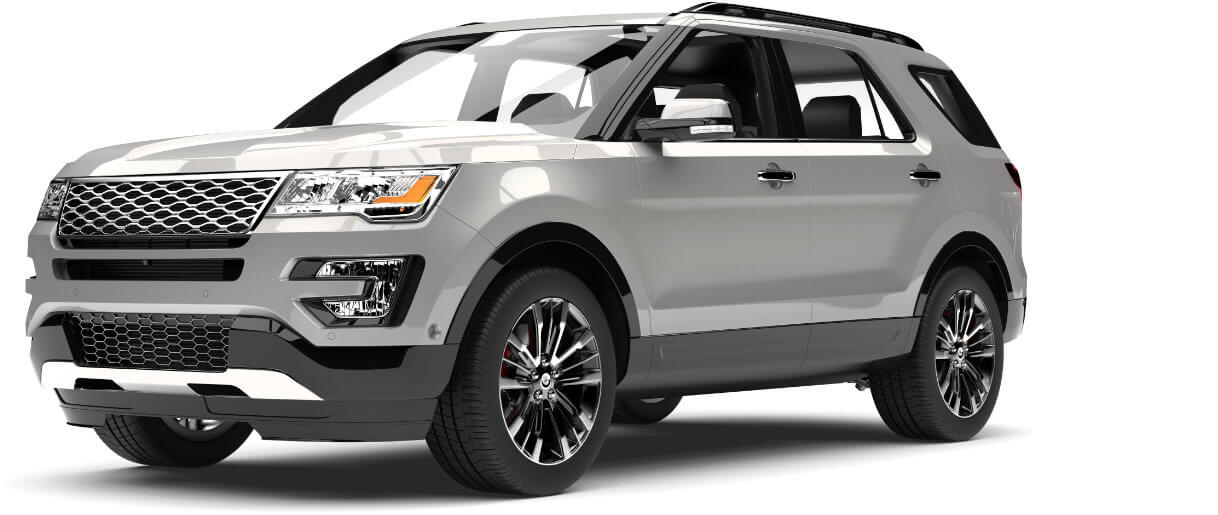 Image of silver new SUV