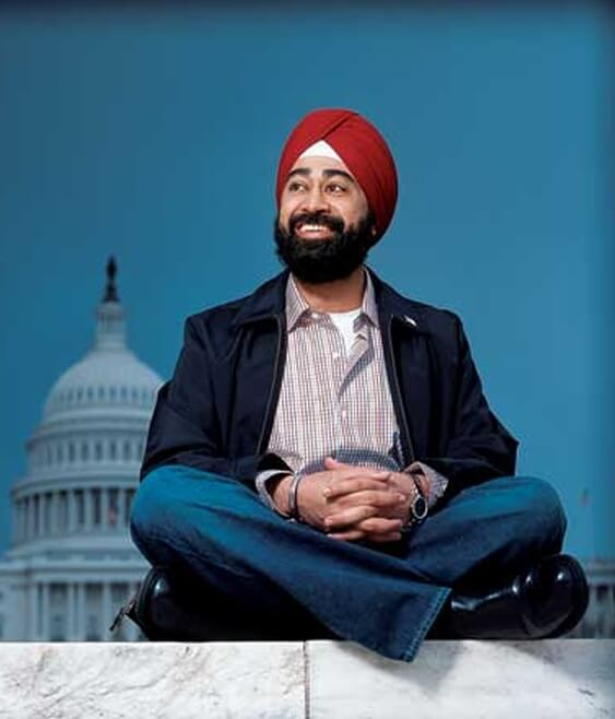 Ravi Singh is the first candidate to run for public office in the USA with a turban.