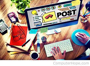Internet weblogs appeared online.