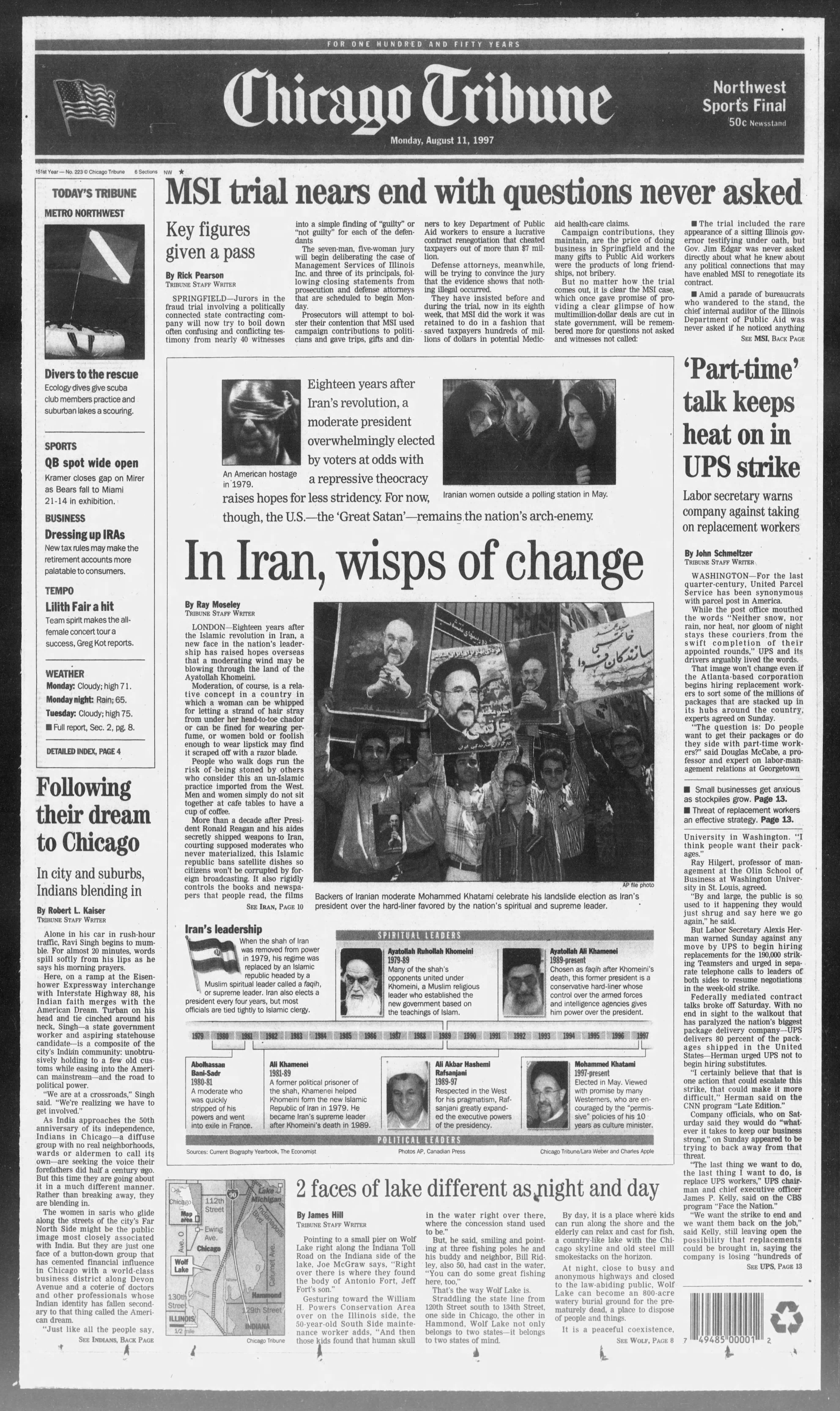 Ravi Singh makes front page of Chicago Tribune