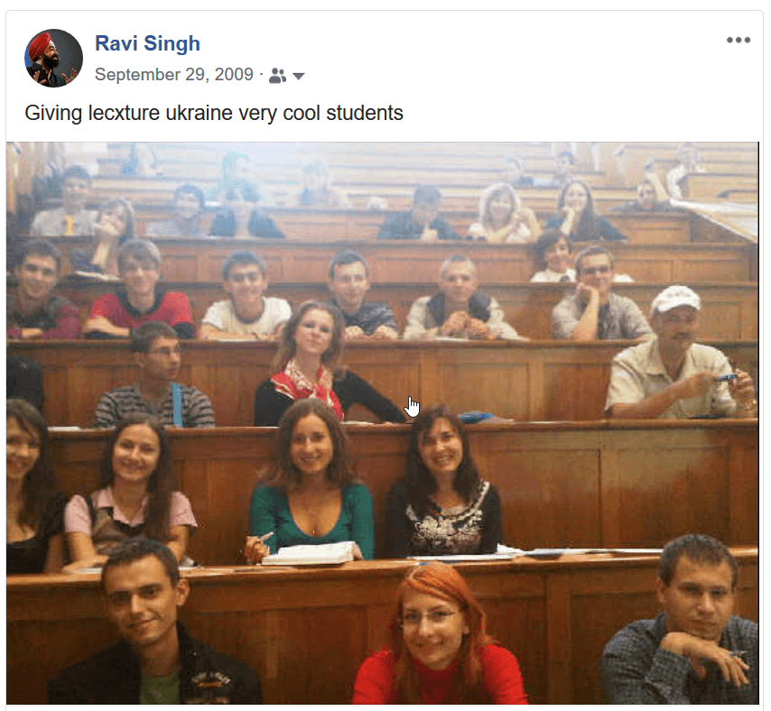 Ravi Singh gave lectures in 2 Ukrainian Universities in Kiev about Politics 2.0 and technologies of campaigns in Internet.