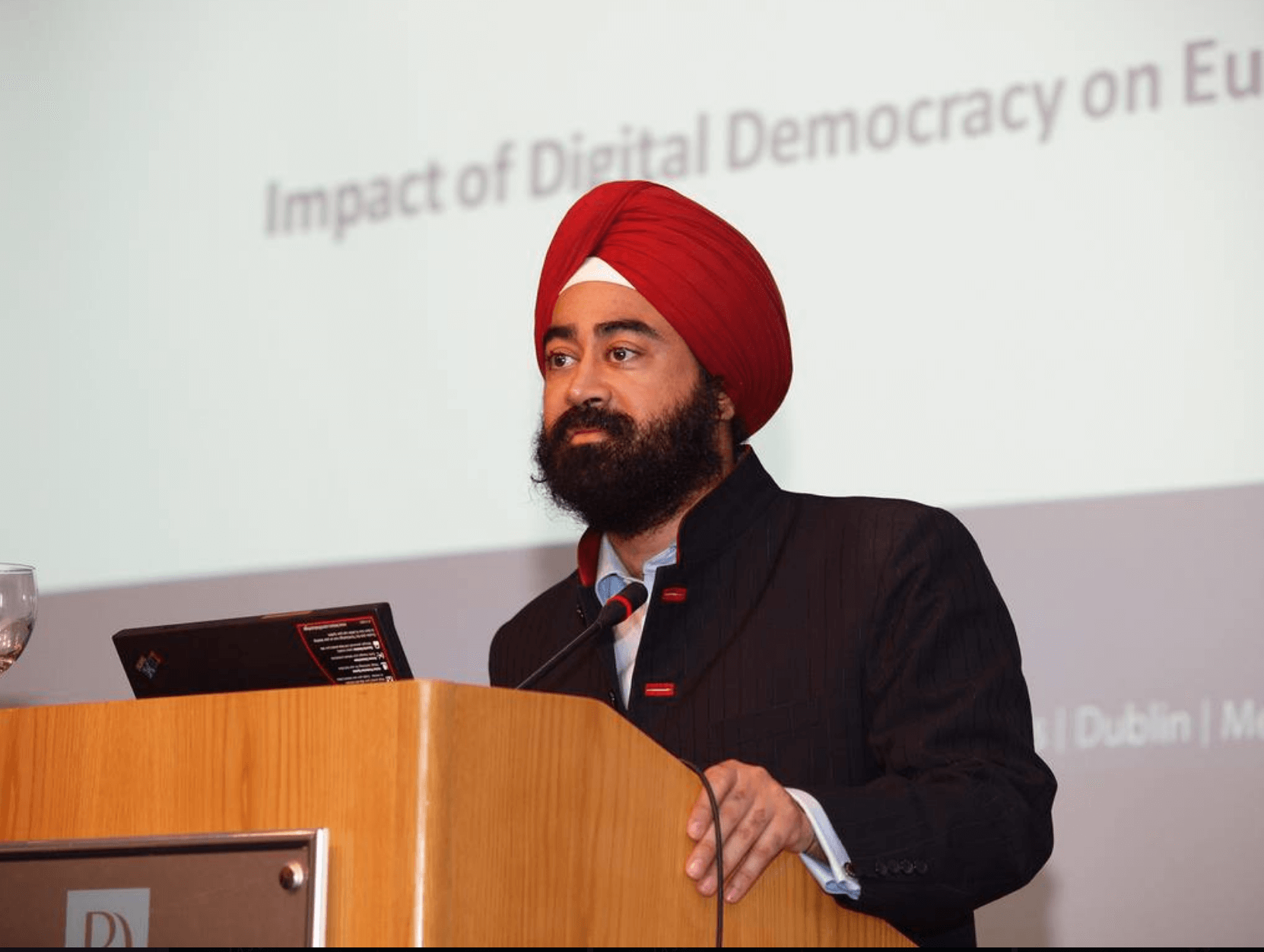 "Ravi Singh addresses the urgency of World Leaders to use Social Media as an ""empowerment tool"" not ""talk at me tool"" with their citizens. He cautions how content will dominate and that World Leaders should not hire others to speak for them but rather use their own voices. He encourages European Leaders to create multiple accounts on various platforms and embrace the new social media platforms as a ""new fax machine"" of their generation."
