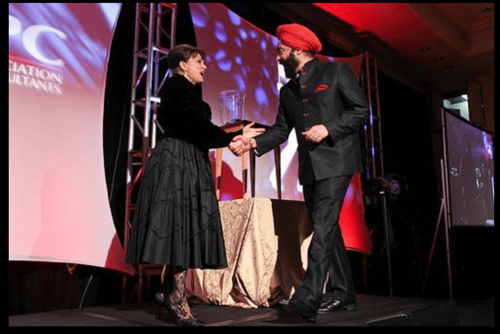 Ravi Singh receives best international campaign website and video game award for President Juan Manuel Santos Election in Colombia.‍