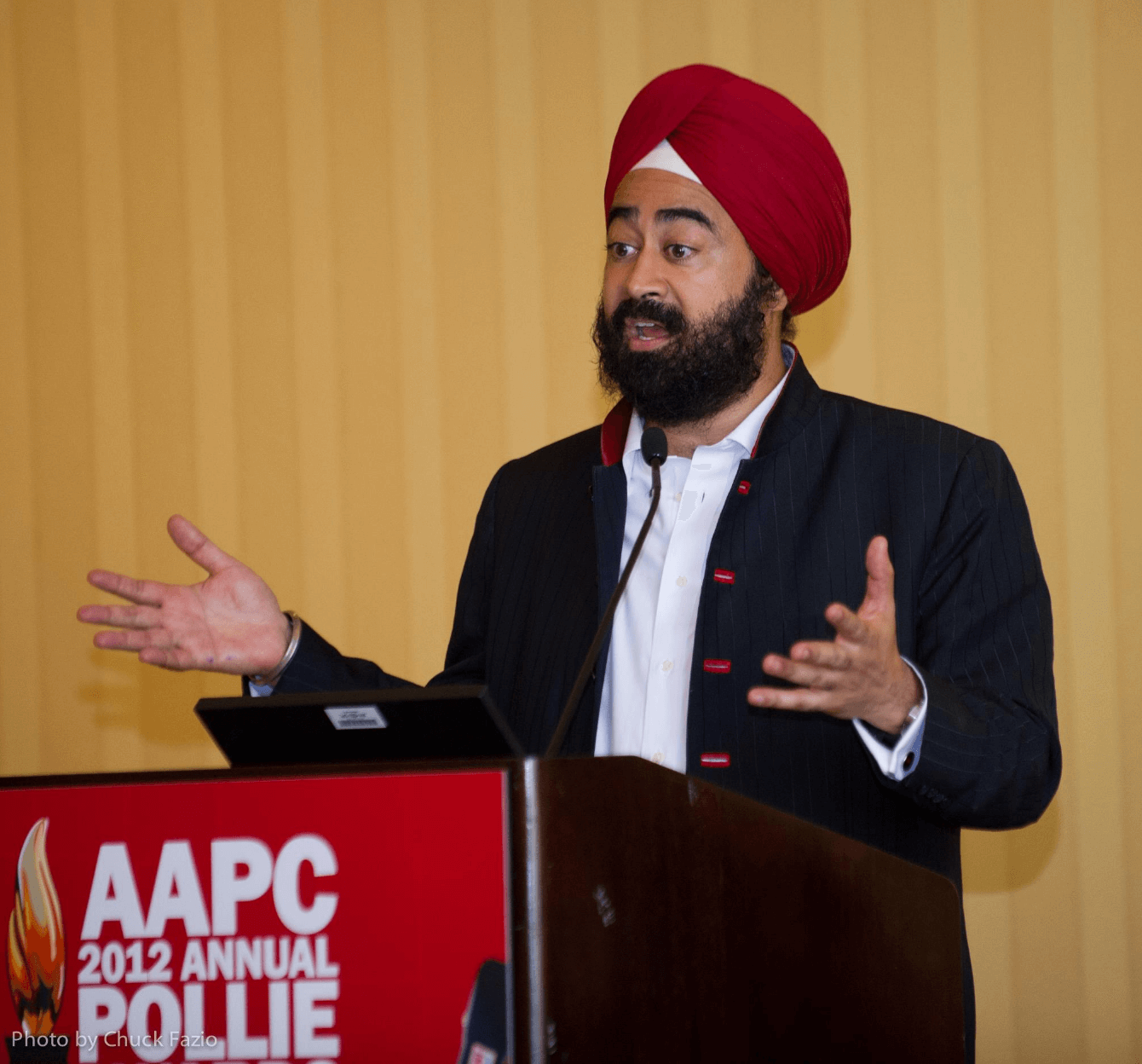 "Ravi Singh's company ElectionMall won the award for ""Best Internet Campaign"" in the International Candidate category for Santos Presidente.com at the Pollie Awards."