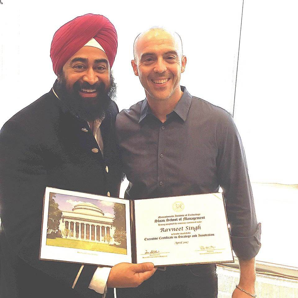 Ravi Singh graduates from MIT Sloan School of Management ACE