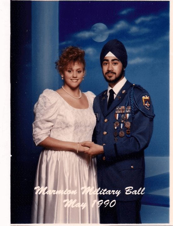 Ravi Singh becomes the first Sikh American with a turban to graduate with full military honors as 2nd Lt. from Marmion Military Academy. Ravi Singh attends Military Ball with Karen Jobe.