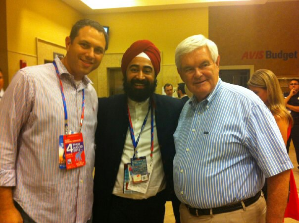 Ravi Singh meets former speaker of the house the Honorable Newt Gingrich.