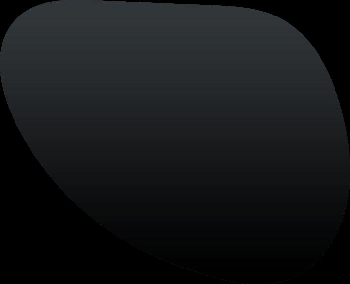 A black shape.