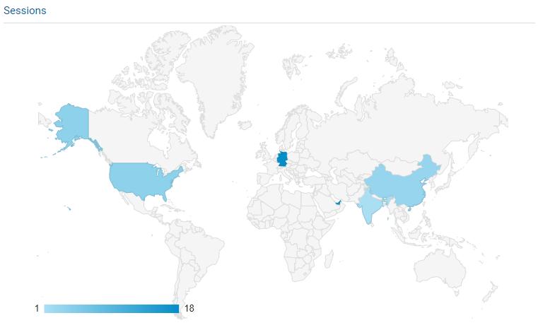 Ein Screenshot von Google Analytics.