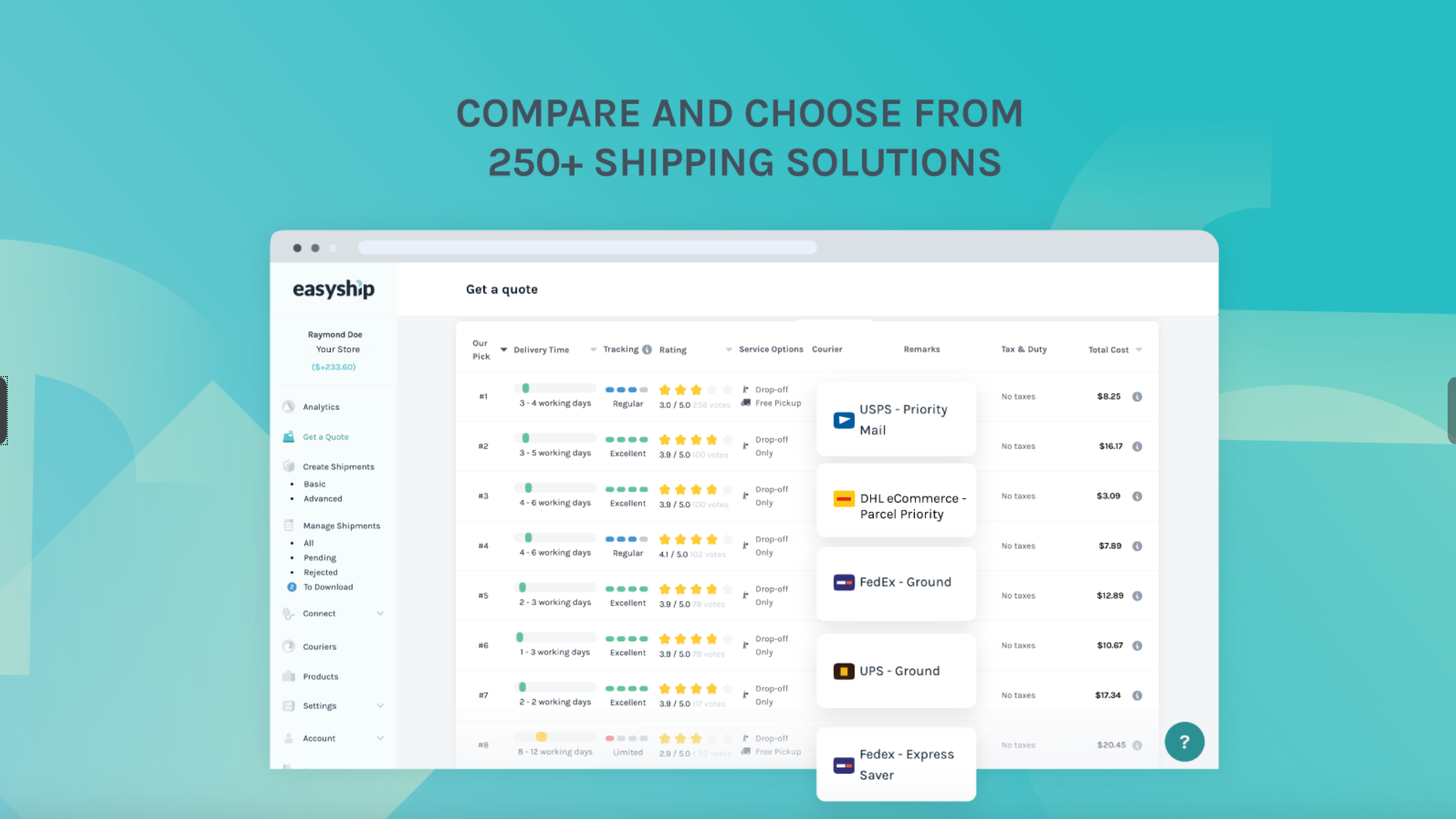 easy ship free shopify app