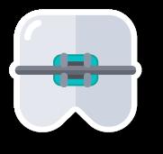 pictogram zoals Tandarts Heusden deze gebruikt in verband met beugels, orthodontie