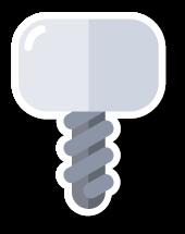 pictogram zoals Tandarts Heusden deze gebruikt in verband met implantaten
