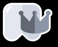 pictogram zoals Tandarts Heusden deze gebruikt in verband met het plaatsen van een kroon of een brug