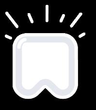 pictogram zoals Tandarts Heusden deze gebruikt in verband met het bleken van het gebit, bleekmethode
