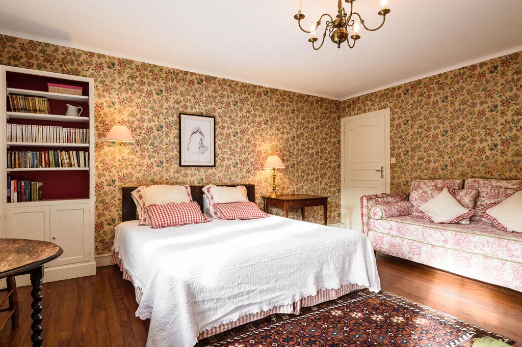 Vue lit double et canapé