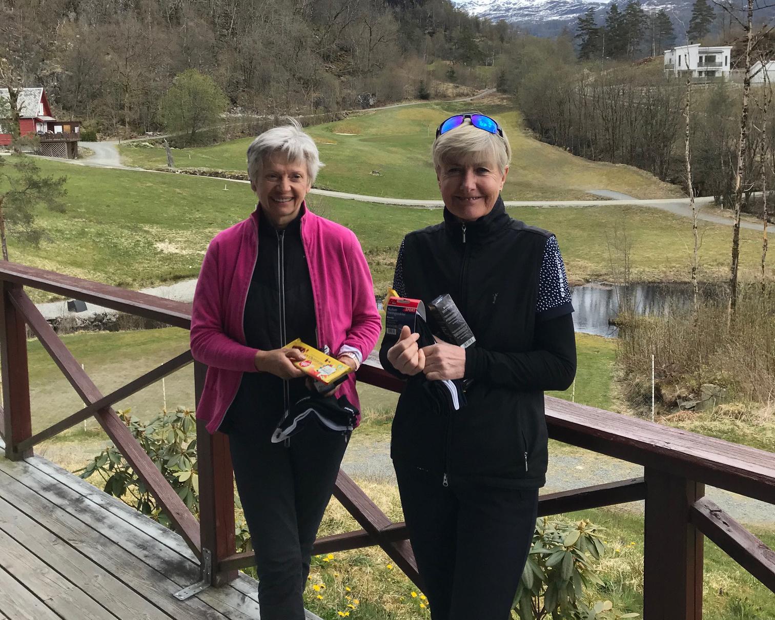 Sigrid Isberg Klyve og Bente Rafdal vant 1. mai parturneringen.