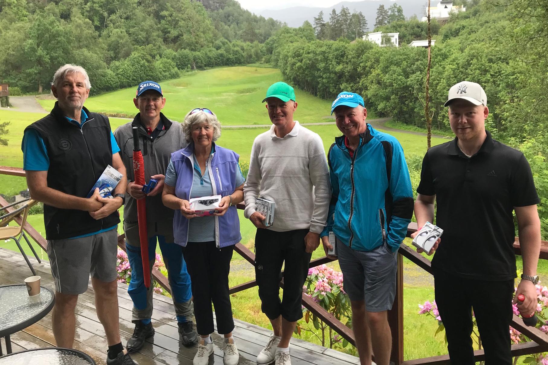 Bilde med Ton Zweedijk, Asle Lunde, Hilde Hodne, Waldemar Olsen, Arvid Rune Larsen og Erlend Rød.