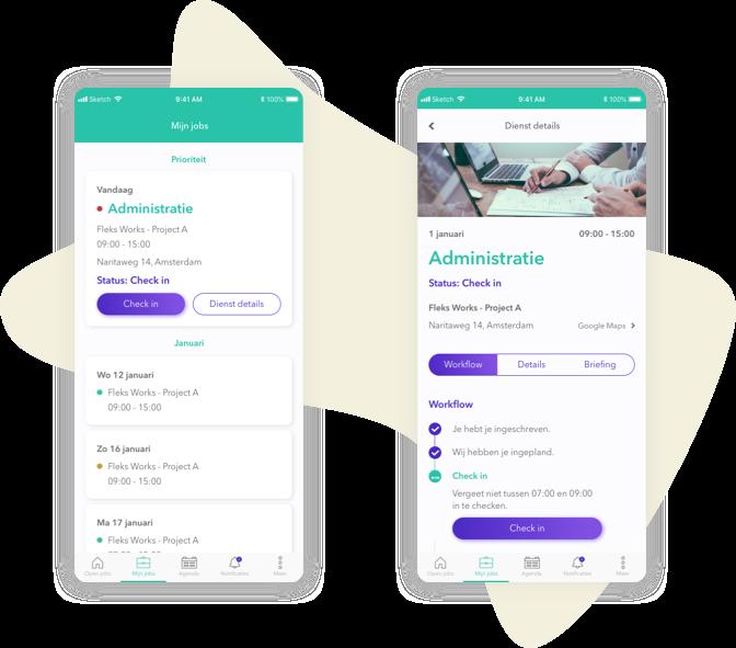 De personeelsplanning app Administratie
