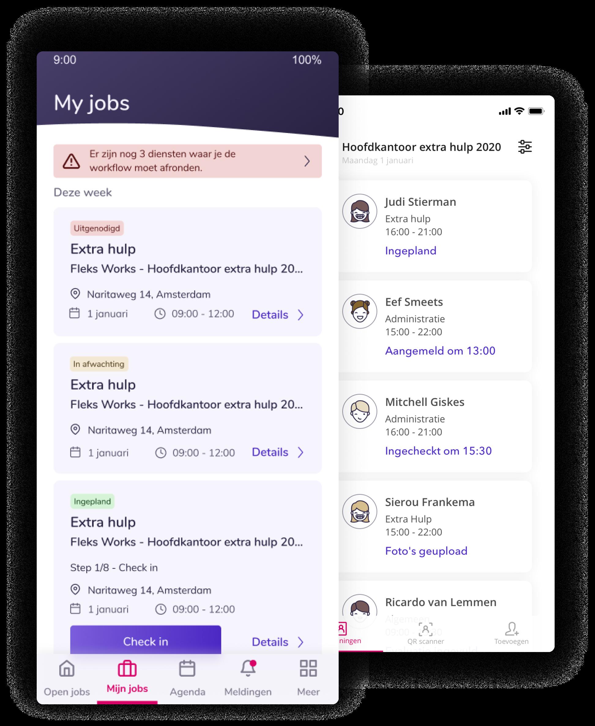 Personeelsplanning app beschikbaarheid
