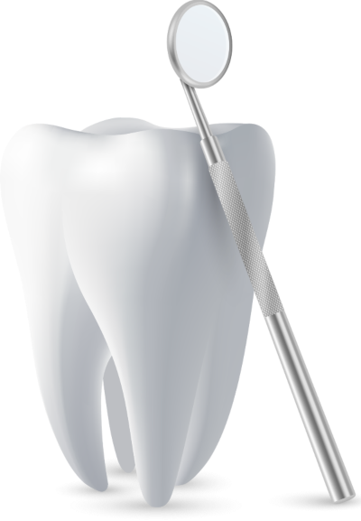 tooth with mirror tool