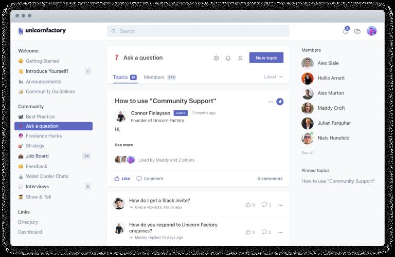 Unicorn Factory community forum screenshot